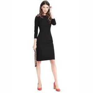 BANANA REPUBLIC Black Bistretch Sheath Dress 6 NWT